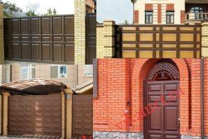 Филенчатые ворота Каскад в городе Архангельск