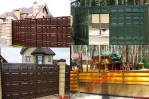 Филенчатые ворота Каскад в городе Барабинск