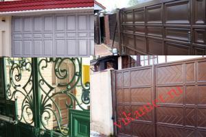 Филенчатые ворота Каскад в городе Белово