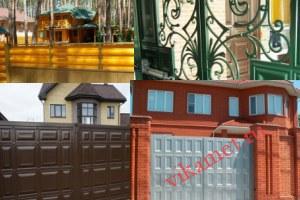 Филенчатые ворота Каскад в городе Белый