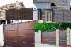 Филенчатые ворота Каскад в городе Бердск