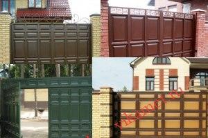 Филенчатые ворота Каскад в городе Болотное