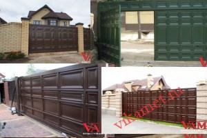 Филенчатые ворота Каскад в городе Чехов-3