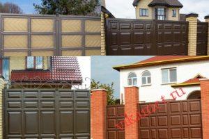 Филенчатые ворота Каскад в городе Чехов-8