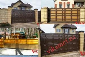 Филенчатые ворота Каскад в городе Чехов