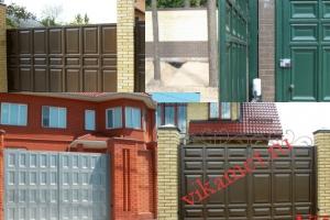 Филенчатые ворота Каскад в городе Челябинск
