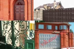 Филенчатые ворота Каскад в городе Черепаново