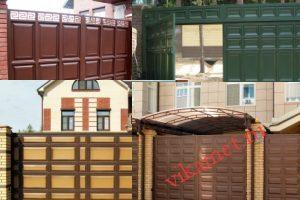Филенчатые ворота Каскад в городе Черняховск