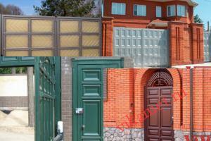 Филенчатые ворота Каскад в городе Дно