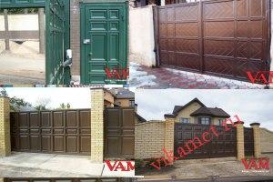 Филенчатые ворота Каскад в городе Долгопрудный