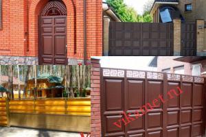 Филенчатые ворота Каскад в городе Долинск