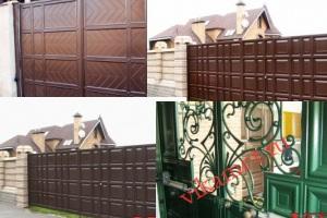 Филенчатые ворота Каскад в городе Донской