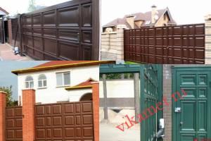 Филенчатые ворота Каскад в городе Дубна