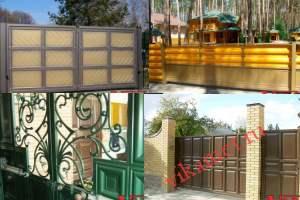 Филенчатые ворота Каскад в городе Елизово