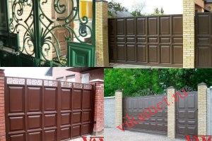 Филенчатые ворота Каскад в городе Энгельс