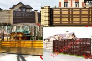 Филенчатые ворота Каскад в городе Эртиль