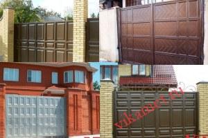 Филенчатые ворота Каскад в городе Ессентуки