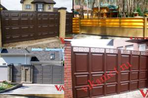 Филенчатые ворота Каскад в городе Гаджиево
