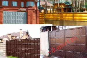 Филенчатые ворота Каскад в городе Гремячинск
