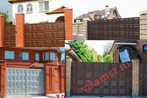 Филенчатые ворота Каскад в городе Гуково