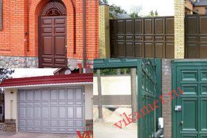 Филенчатые ворота Каскад в городе Ханты-Мансийск