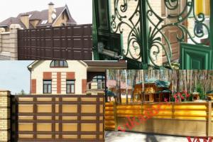 Филенчатые ворота Каскад в городе Хиттолово массив