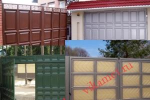 Филенчатые ворота Каскад в городе Холмск