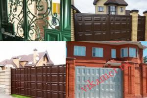 Филенчатые ворота Каскад в городе Хвалынск