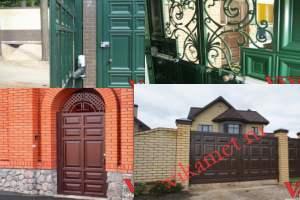 Филенчатые ворота Каскад в городе Ишим