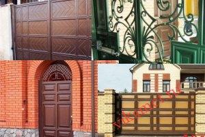 Филенчатые ворота Каскад в городе Искитим