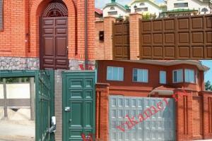 Филенчатые ворота Каскад в Ивановской области