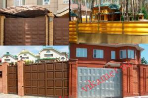 Филенчатые ворота Каскад в городе Калач-на-Дону
