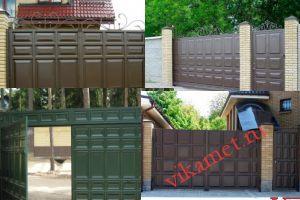 Филенчатые ворота Каскад в городе Карачев