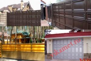 Филенчатые ворота Каскад в городе Касимов