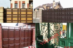 Филенчатые ворота Каскад в городе Катайск