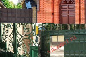 Филенчатые ворота Каскад в городе Кемерово