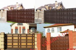 Филенчатые ворота Каскад в городе Кирово-Чепецк