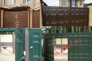 Филенчатые ворота Каскад в городе Кола