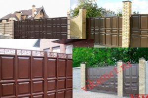 Филенчатые ворота Каскад в городе Кореновск