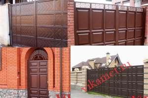 Филенчатые ворота Каскад в городе Королев