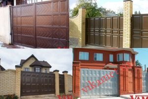 Филенчатые ворота Каскад в городе Костомукша