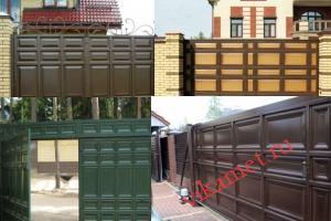 Филенчатые ворота Каскад в городе Котельнич