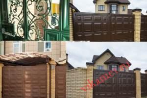 Филенчатые ворота Каскад в городе Козельск