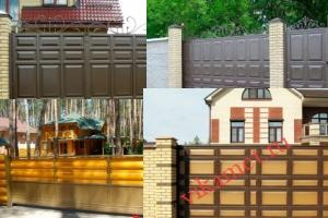 Филенчатые ворота Каскад в городе Красноармейск