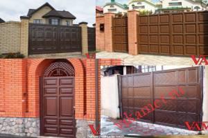 Филенчатые ворота Каскад в городе Красногорск