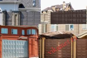 Филенчатые ворота Каскад в городе Куса