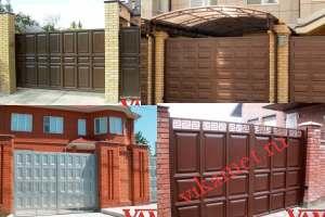 Филенчатые ворота Каскад в городе Кувандык