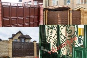 Филенчатые ворота Каскад в городе Лабинск