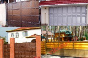Филенчатые ворота Каскад в городе Лермонтов