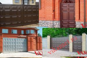 Филенчатые ворота Каскад в городе Льгов